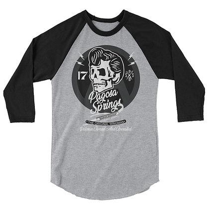 3/4 Sleeve Veteran Owned Skull and Blade Baseball Shirt