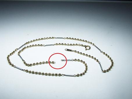 K18磁気ネックレス 修理