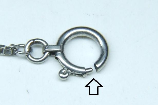 ネックレスの金具交換