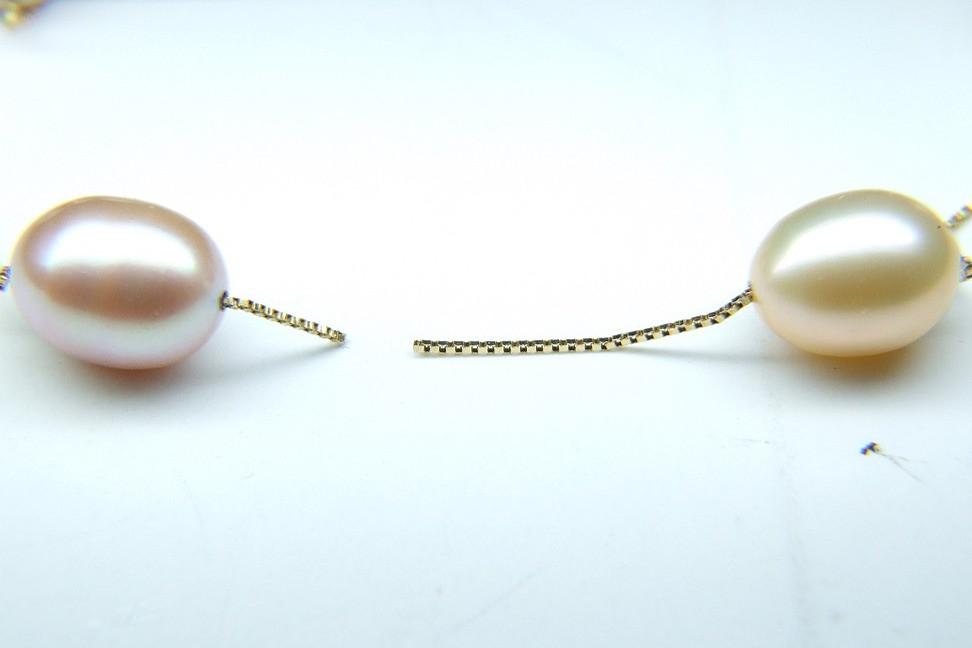 K14淡水真珠ネックレス 修理