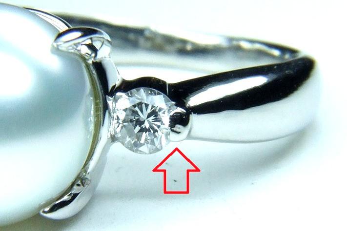 ダイヤモンドの石留め