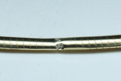 K18オメガネックレス 修理