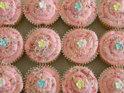 Pink Sprinkles Cupcakes
