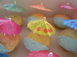 Beach Umbrella Cupcakes