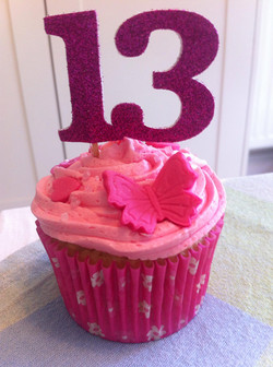 Sparkly 13th Birthday Cupcakes