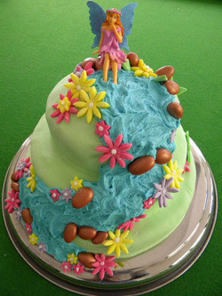 Fairy Waterfall Cake