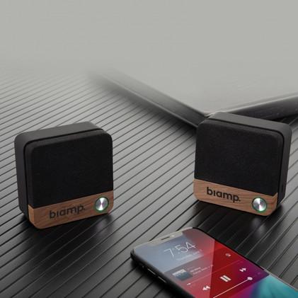 Pair of Wood Bluetooth Speaker Set