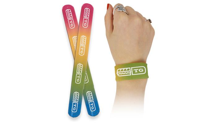 Custom Rainbow Slap Bracelets for Pride