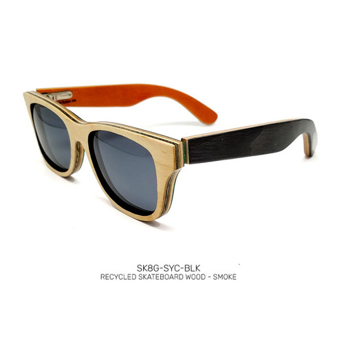 Recycled Skateboard Sunglasses Sycamore