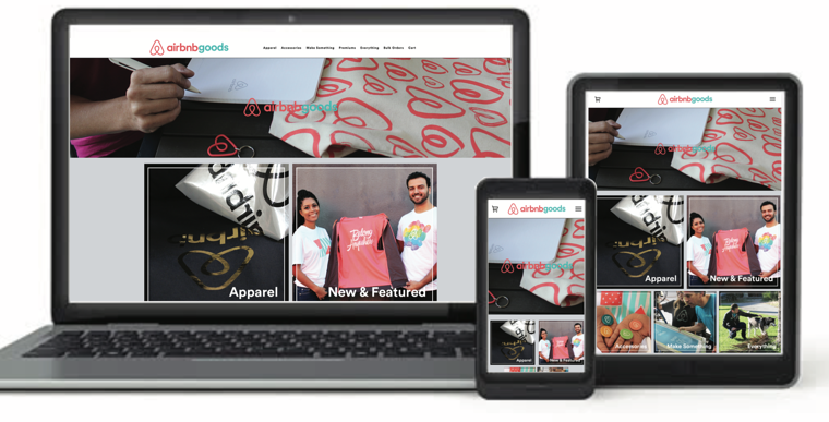 Airbnb Web Store