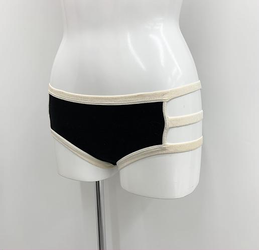 Period Panty/ Black×Ivory
