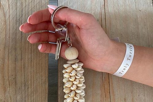 Cowrie Shell Keychain