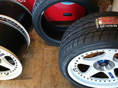 以外に組みやすい扁平タイヤ
