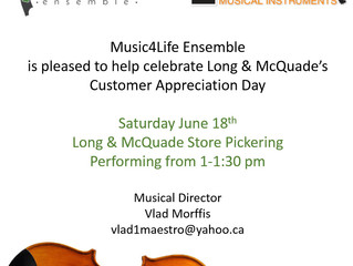 Celebrating Customer Appreciation Day at Long & McQuade