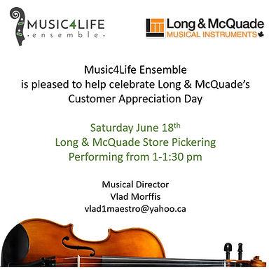 Celebrating Customer Appreciation Day at Long & McQuade