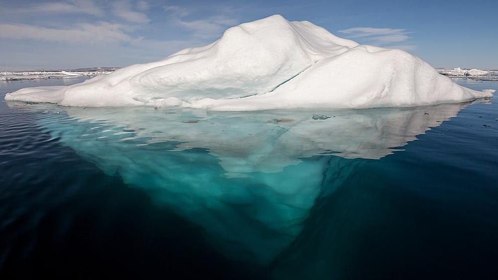 Iceberg partie émergée et immergée