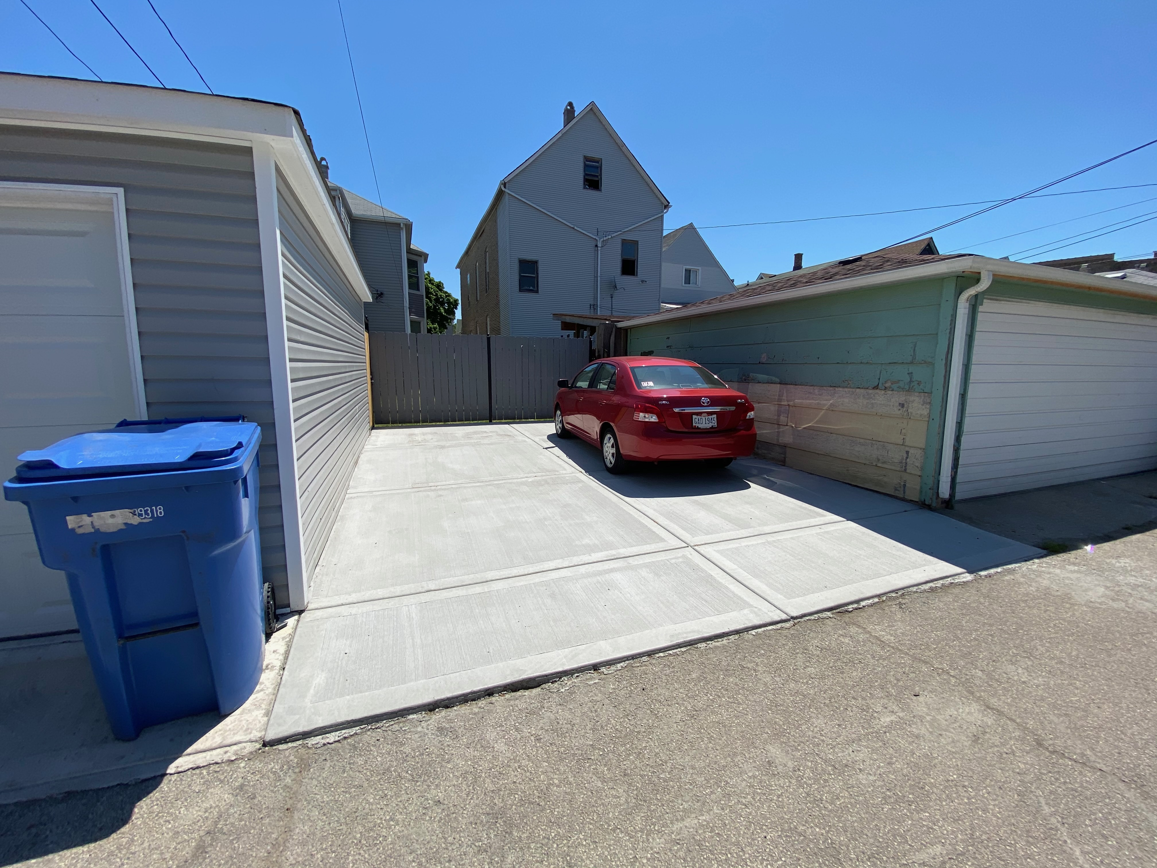 concrete parking pad