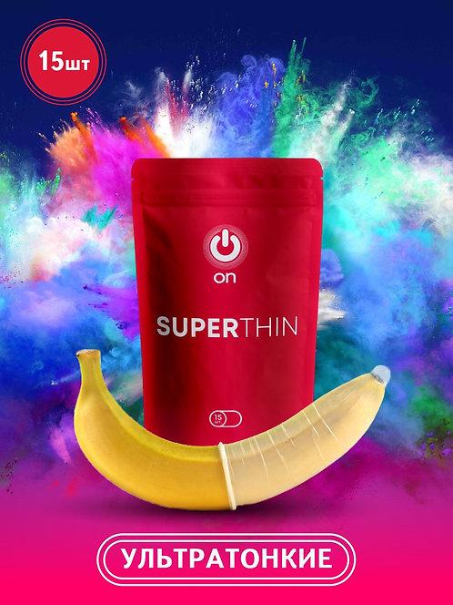 Презервативы ON супертонкие 15 штук (3 в подарок)