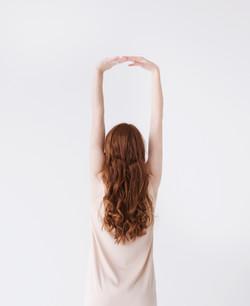 赤髪のモデル