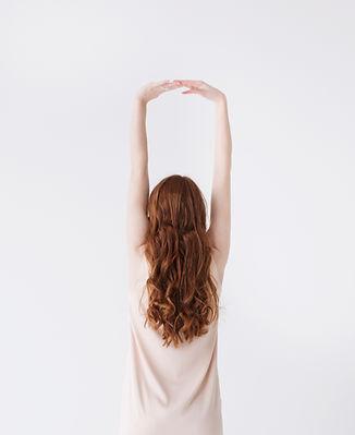 Red Model Hair