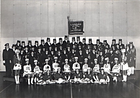 Landås skoles musikkorps- jubileumsbilde 1979