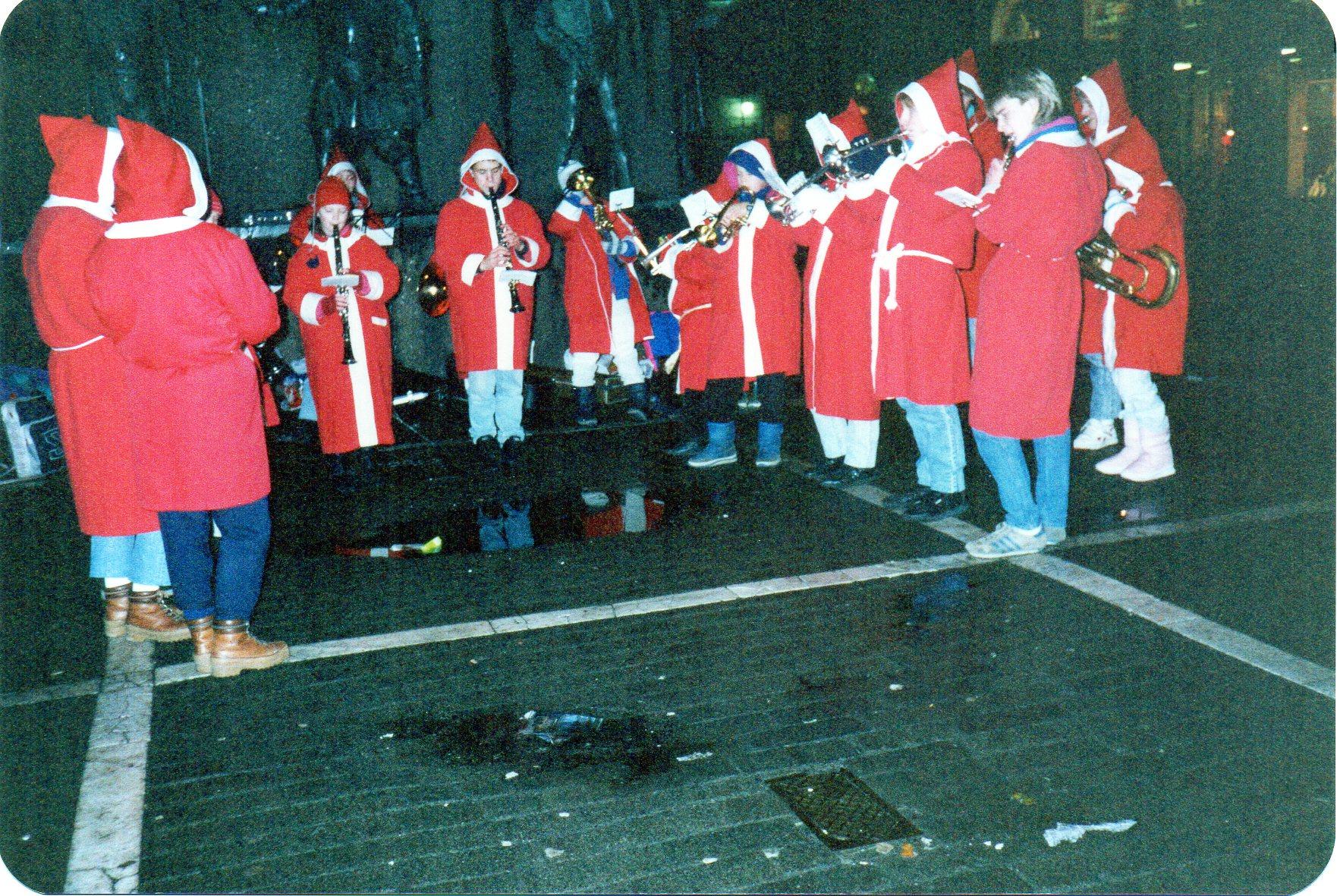 Julespilling i sentrum 1988