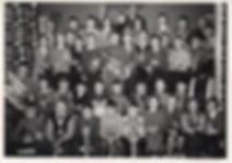 Landås skoles musikkorps ved utdeling av instrumenter i 1959