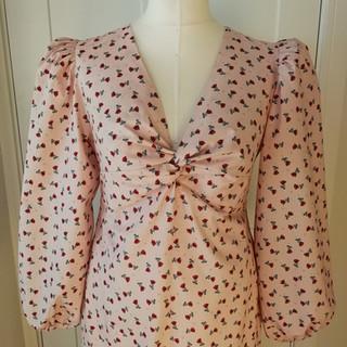 Full Sleeved Twist Dress