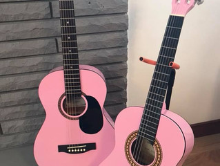 Pink Guitars -Ready for New Home