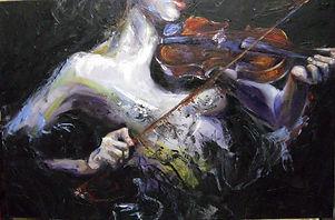 Violinist 24x36