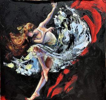 Dancing in the dark 30x30