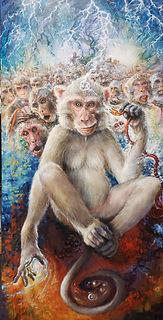 100th Monkey 48x24