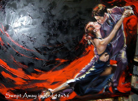 Swept Away in Red 36x48