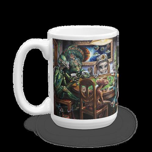 """""""All in"""" Alien Poker Mug"""