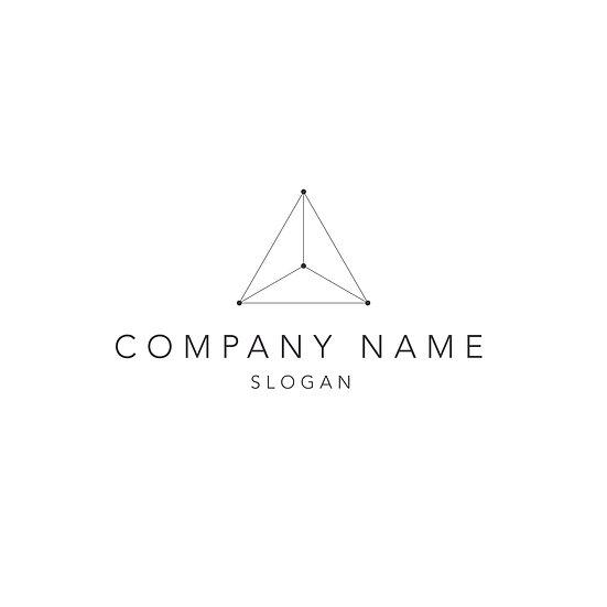 Logo Design: Geometric Triangle Company Logo