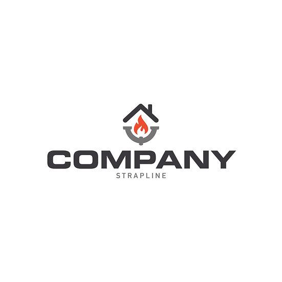 Logo Design: Plumbing Heating Gas Company Logo