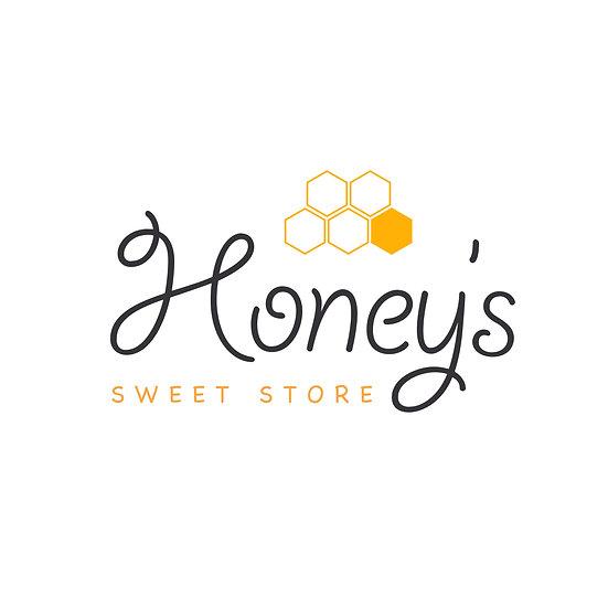 Logo Design: Honey's Sweet Store Honeycomb Company Logo