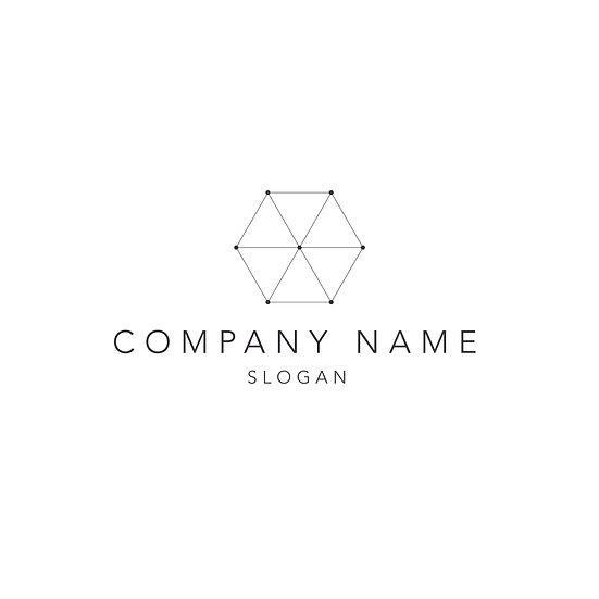 Logo Design: Geometric Hexagon Company Logo