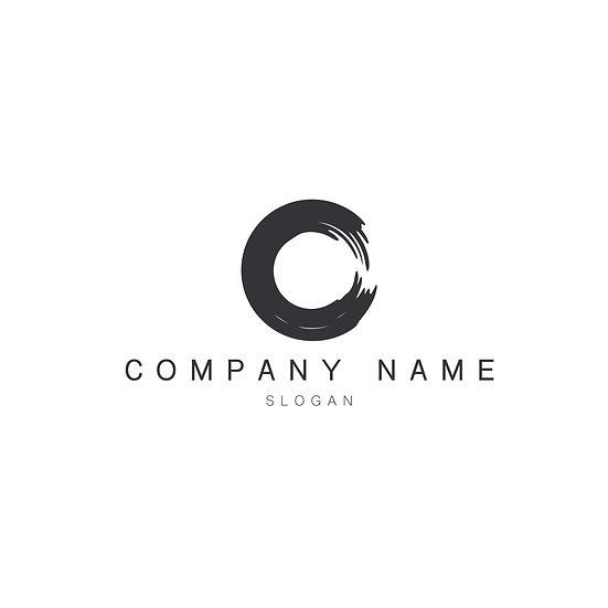 Logo Design: Broad Paint Stroke Circle Company Logo