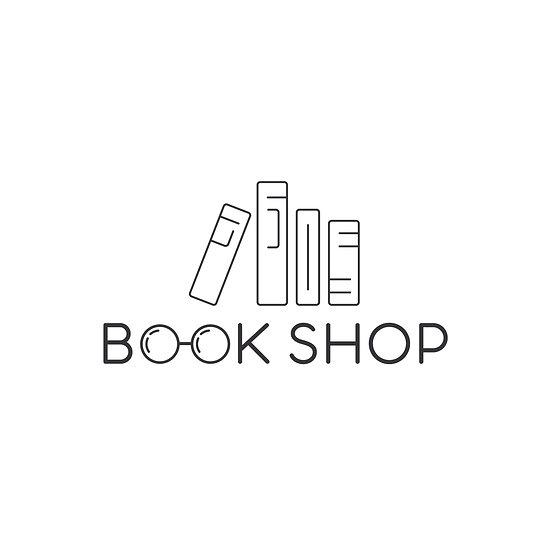 Logo Design: Bookshop Books Glasses Logo