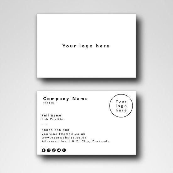 Business Card Design: Blank Template