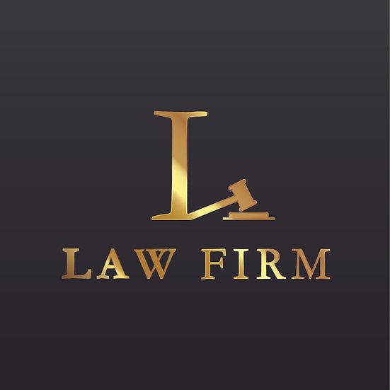 Logo Design: Law Firm Gavel Company Logo