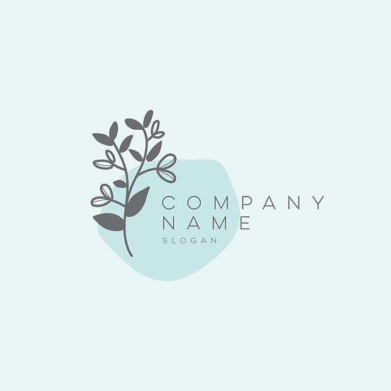 Logo Design: Blue Floral Generic Company Logo