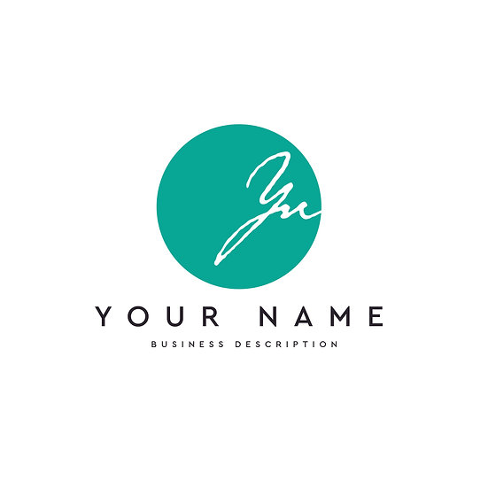 Logo Design: Circle Script Initials Company Logo