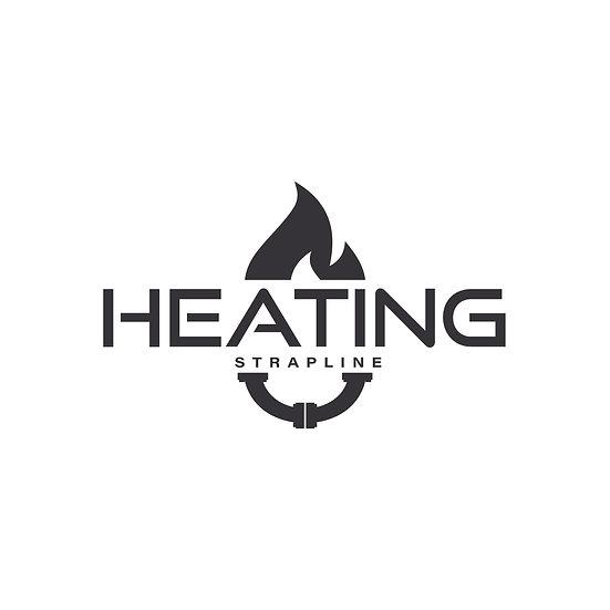 Logo Design: Plumbing Heating Flame Company Logo