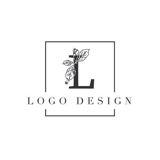 Logo Design: Initial Floral Design Frame Company Logo