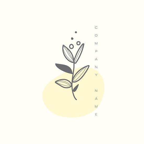 Logo Design: Yellow Floral Generic Company Logo