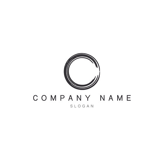 Logo Design: Paint Stroke Circle Company Logo