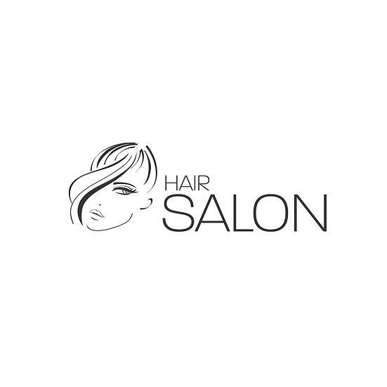 Logo Design: Hair Salon Stylist Face Simple Company Logo