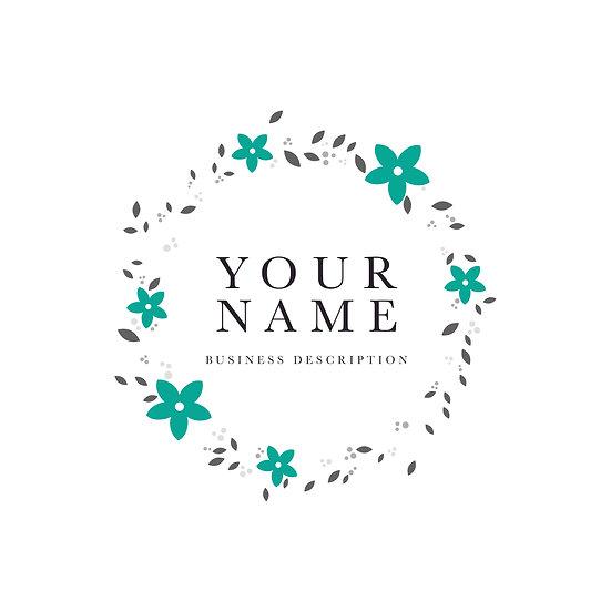 Logo Design: Floral Border Company Logo